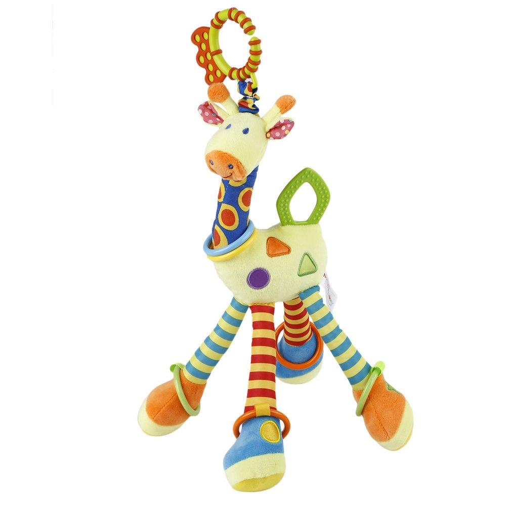 Infant Baby Development Soft Giraffe Handbells Rattles Handle Toys Bed Bell