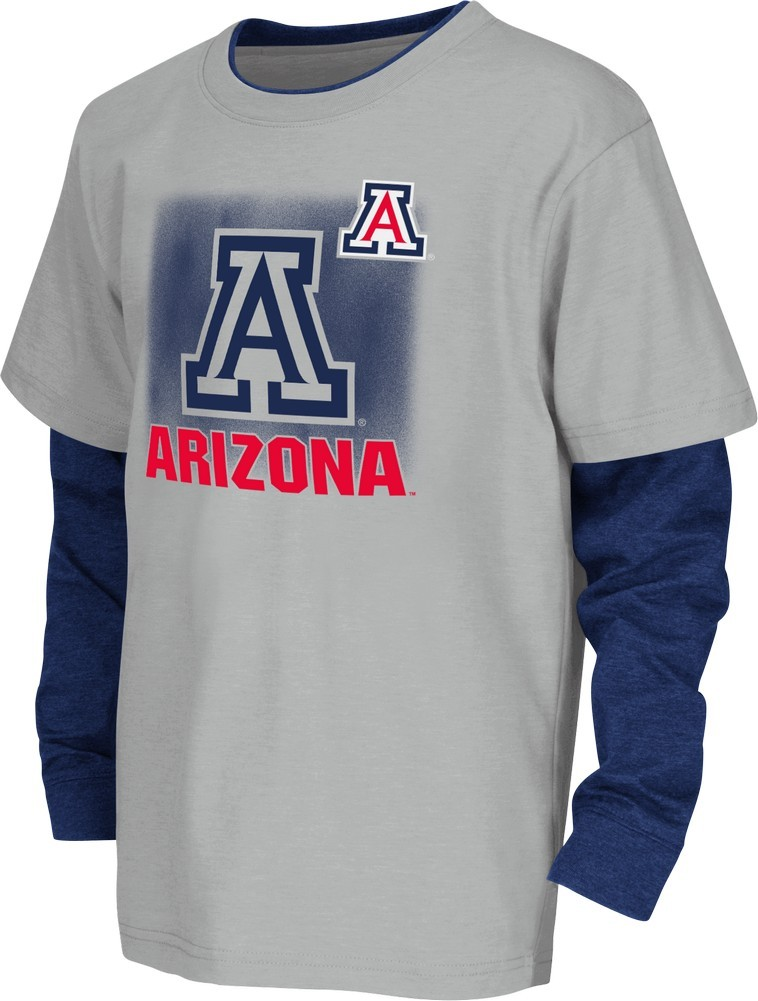 Youth Arizona Wildcats Layered Long Sleeve Tee by Colosseum