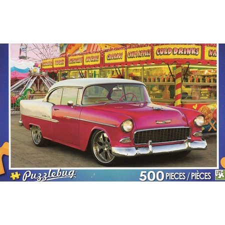 Red Car At The Carnival Chevrolet 500 Piece Jigsaw