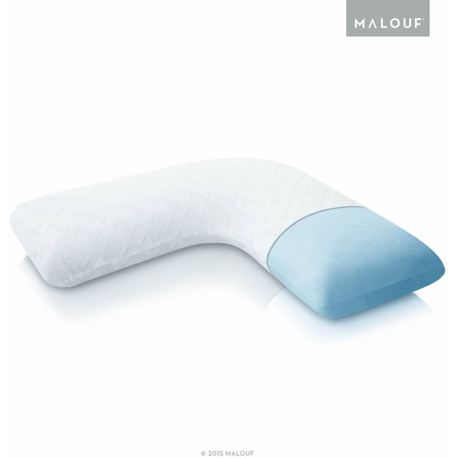 z gel memory foam lshape pillow