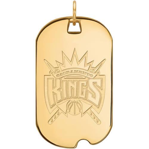 NBA Sacramento Kings 14kt Yellow Gold Large Dog Tag