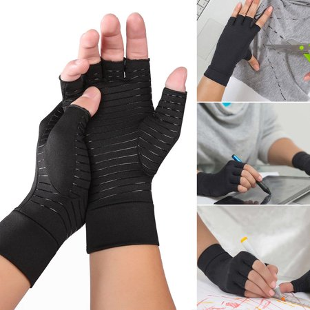 Thermoskin Arthritic Gloves (Copper Arthritis Fit Compression Gloves Hand Support Arthritic Joint Pain Relief S)
