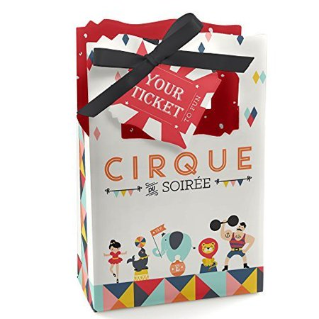 Circus Party Favors (Carnival Circus - Cirque du Soiree - Baby Shower or Birthday Party Favor Boxes - Set of)