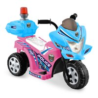 Kid Motorz Lil Patrol In Light Pink with Blue w/Siren Light & Box Deals