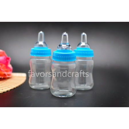 12 Fillable Jumbo Bottles for Baby Shower Favors Party - Personalized Baby Shower Favors