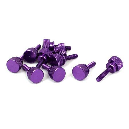 Ordinateur PC bo tier Type d'épaule bo tier moletée Vis Violet M4x16mm 10pcs - image 3 de 3
