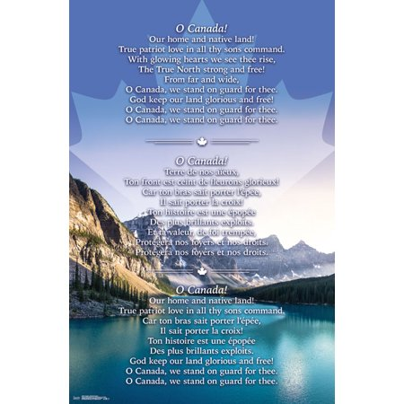 Trends International Canada National Anthem Wall Poster 22.375