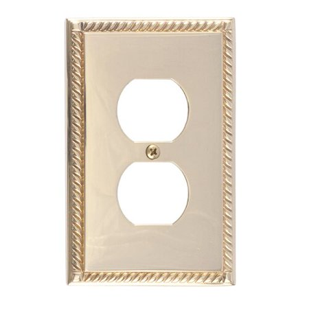 Georgian Polished Brass (BRASS Accents Georgian Single Outlet)