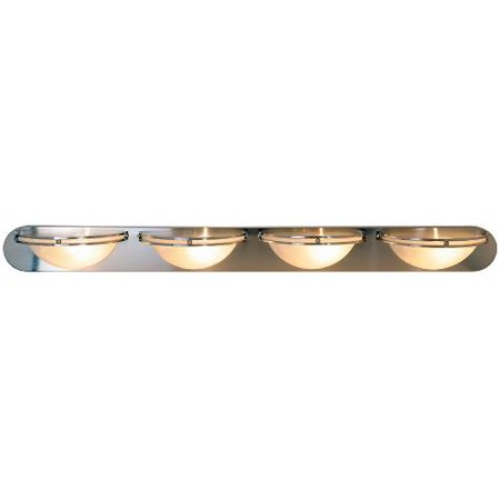 (Monument Contemporary Vanity Fixture, Maximum Four 100 Watt Incandescent Medium Base Bulbs, 48 In., Brushed Nickel)
