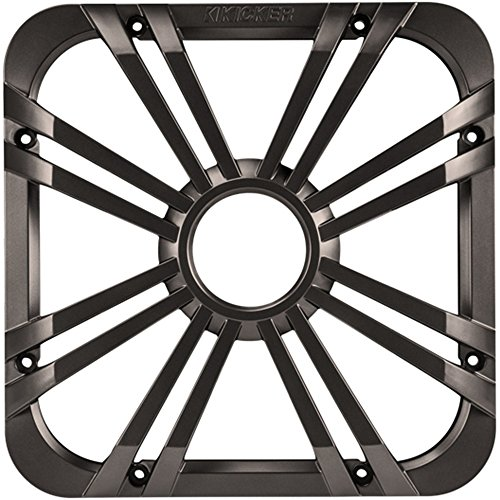 Kicker 11L712GLC LED, Charcoal 12-Inch Square Subwoofer Grille for 11S12L7
