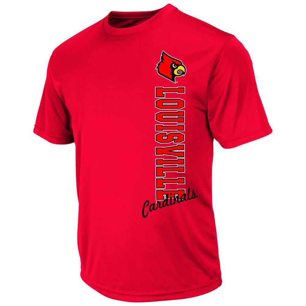 Mens NCAA Louisville Cardinals Short Sleeve Tee Shirt (Team Color)