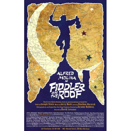 Fiddler on the Roof 11x17 Broadway Poster (Fiddler On The Roof Costumes For Sale)
