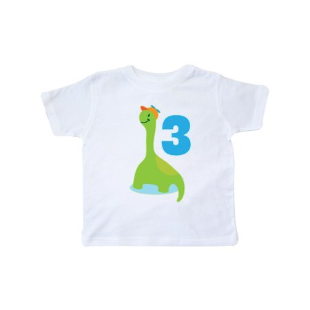 Dinosaur 3rd Birthday Party Toddler T Shirt