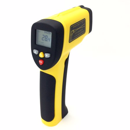 PerfectPrime TM0817 Accurate Digital Surface Temperature Non-contact Infrared IR Thermometer Dual Laser Pointer Gun -50 to (Dual Digital Thermometer)