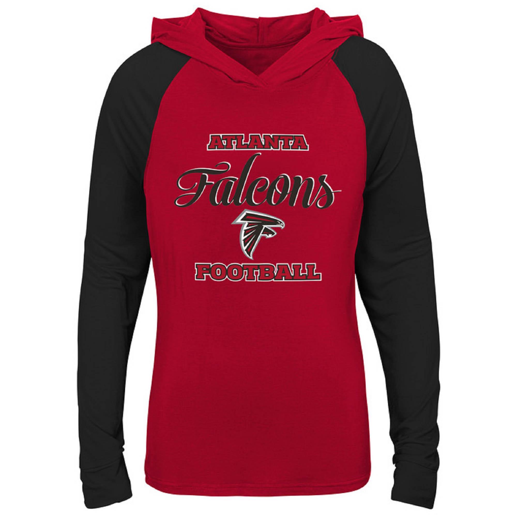 Girls Youth Red/Black Atlanta Falcons Hooded Long Sleeve T-Shirt