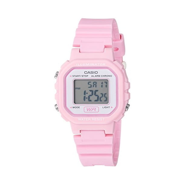 Casio Women's Digital Casual Watch, Pink/White LA20WH-4A1