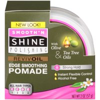 Smooth and Shine Polishing Olive and Tea Tree Revivoil Instant Edge Smoothing Hair Pomade, 2 Ounce