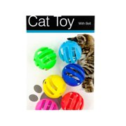 Kole Imports HX180-24 Balls with Bells Cat Toys Set, 24 Piece