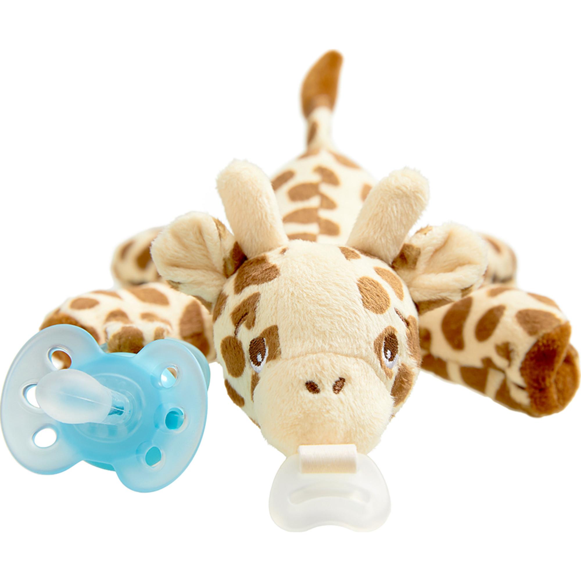 Philips Avent Ultra Soft Snuggle pacifier, 0-6m, Giraffe, SCF348/01