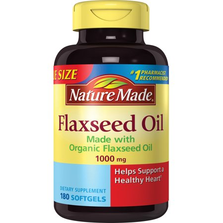Nature Made Flaxseed Oil Softgels, 1000 Mg, 180 -