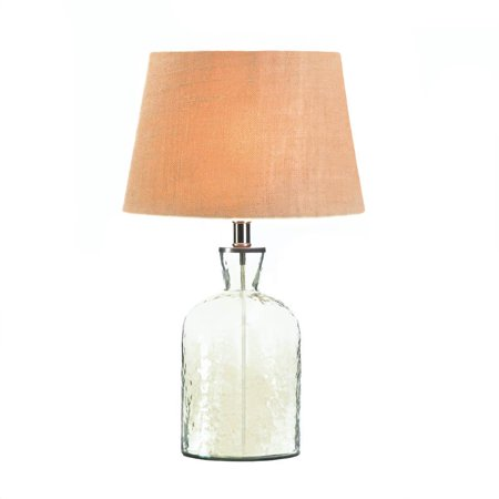 Lamp Table Glass Clear Bottle Modern Side Table Lamps For Living Room
