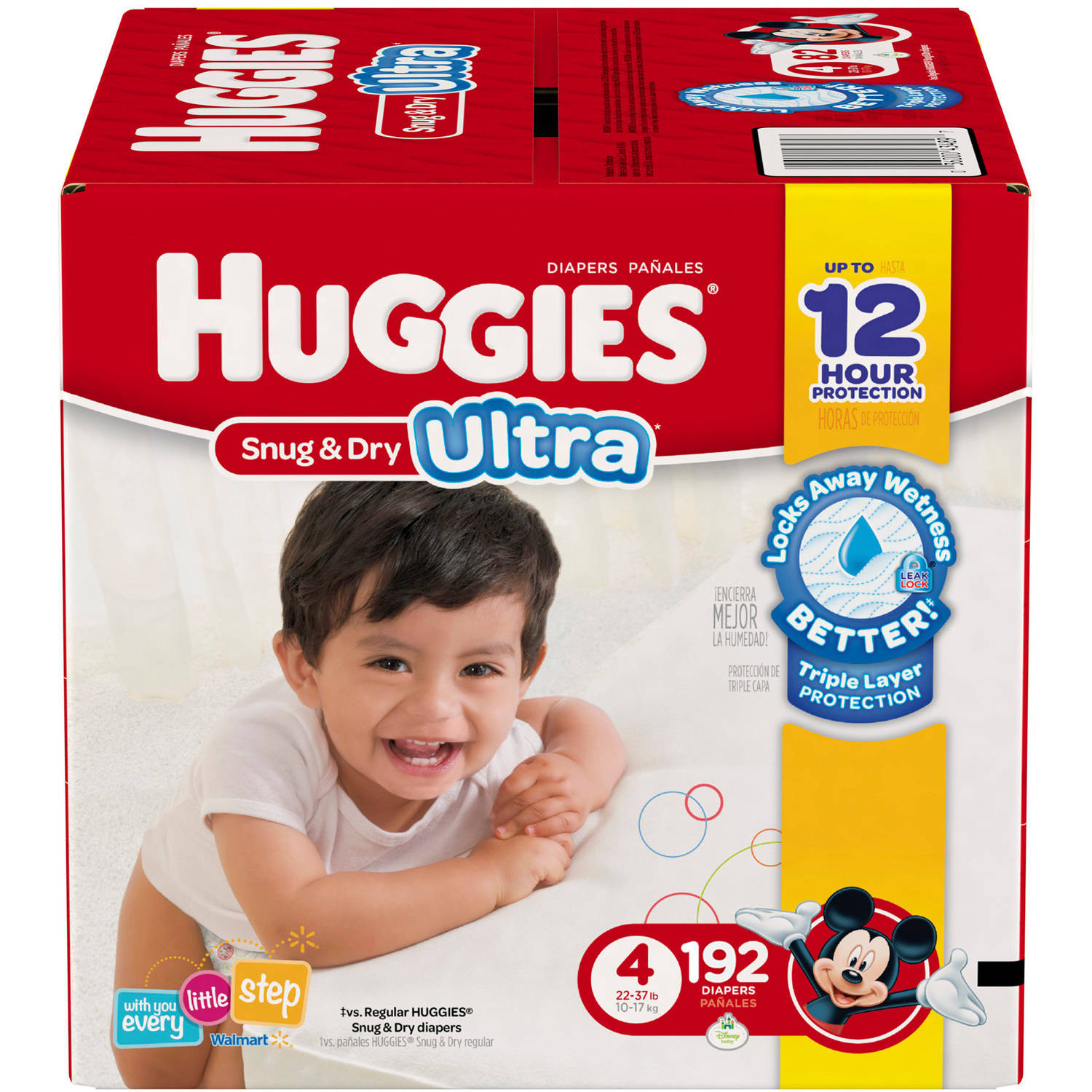 HUGGIES Snug & Dry Ultra Diapers, Size 4 (Choose Diaper Count)