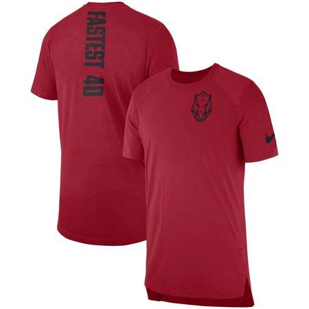Arkansas Razorbacks Nike 2018 Elite Basketball On-Court Shooter Shirt -  Cardinal