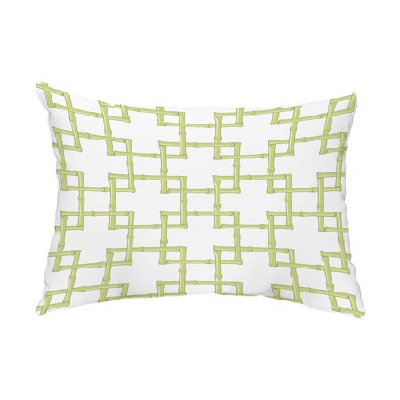 Bamboo 2 14x20 inch Green Decorative Abstract Outdoor Pillow Bamboo Decorative Pillow