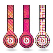 Orange and Pink Skins for Beats Solo HD Headphones – Set of 3 Patterns