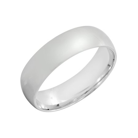 Men's 6MM Sterling Silver High Polish Domed Ring – Mens Band