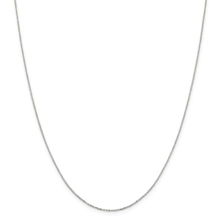 Sterling Silver Spring Ring 1mm 8 Sided Sparkle-Cut Cable Chain Necklace - Length: 16 to 30 Entwined Rings Necklace