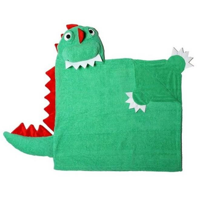 Zoocchini 11102 Devin the Dinosaur Hooded Towel - 50 x 22 inch