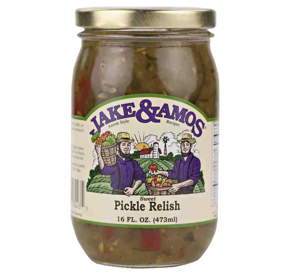 Jake & Amos Sweet Pickle Relish 16 oz. (3 Jars)