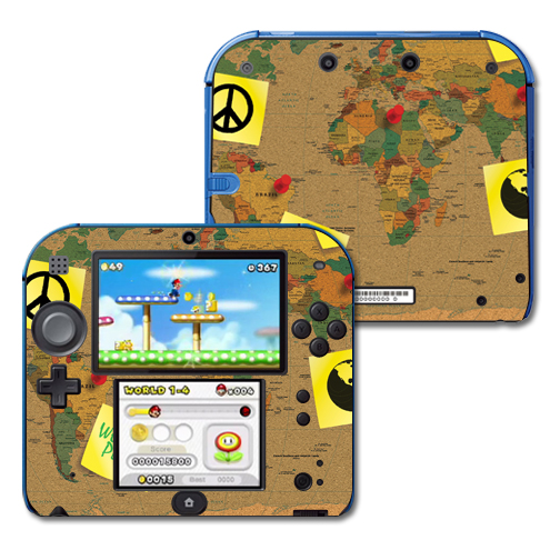 Mightyskins Protective Vinyl Skin Decal Cover for Nintendo 2DS wrap sticker skins World Peace
