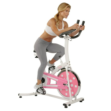 Sunny Health & Fitness P8100 Pink Chain Drive Indoor Cycling Trainer Exercise