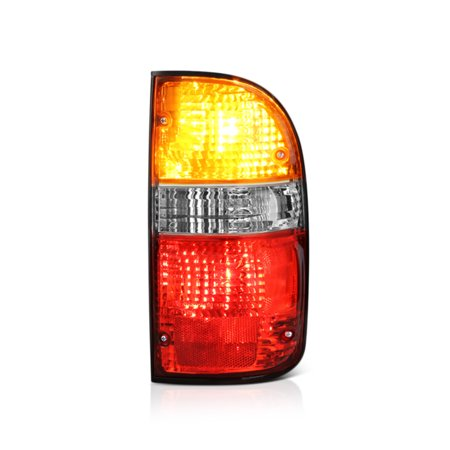 VIPMOTOZ Red & Amber Lens OE-Style Tail Light Lamp Assembly For 2001-2004 Toyota Tacoma Pickup Truck (Pickup Truck Tail Light Lamp)