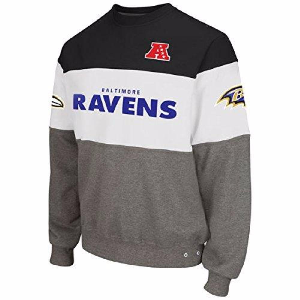 Baltimore Ravens Era Crew Fleece Sweatshirt