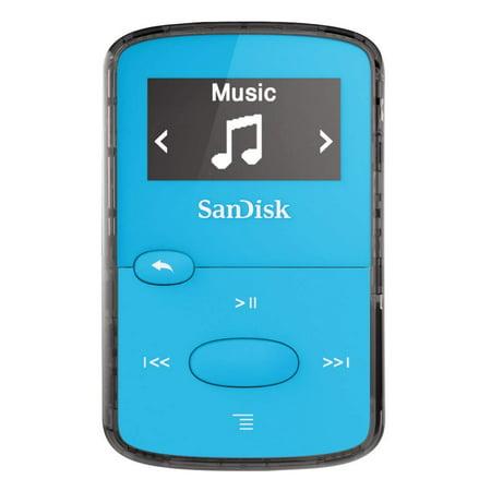 SanDisk 8GB Clip Jam MP3 Player Blue SDMX26-008G-G46B (Certified (50' Mp3)