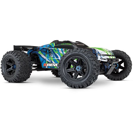 E-Revo VXL Brushless: 1/10 Scale 4WD Brushless Electric Monster Truck with TQi 2.4GHz Traxxas Link Enabled Radio System and Traxxas Stability Management