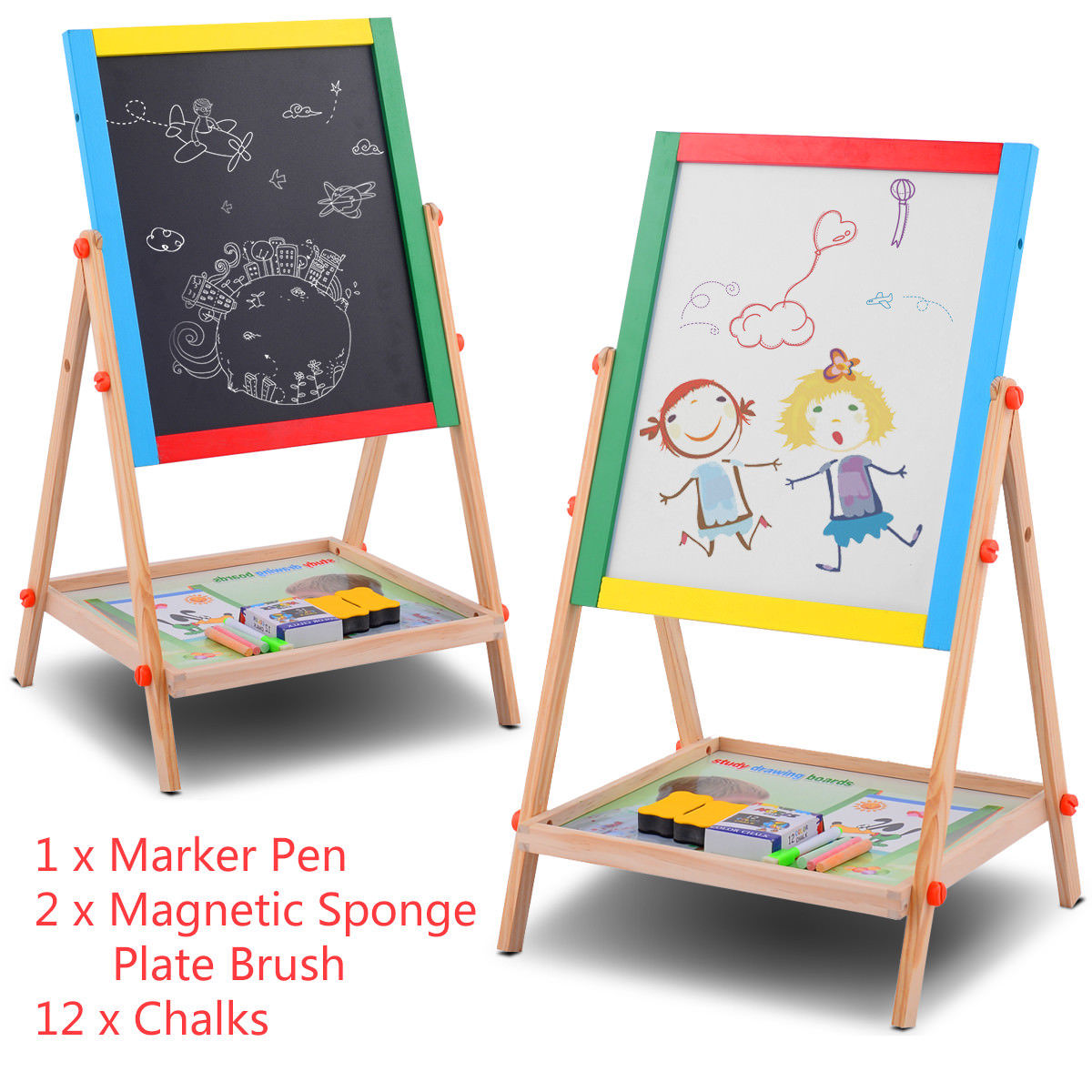 Marker and chalk drawing boards 13