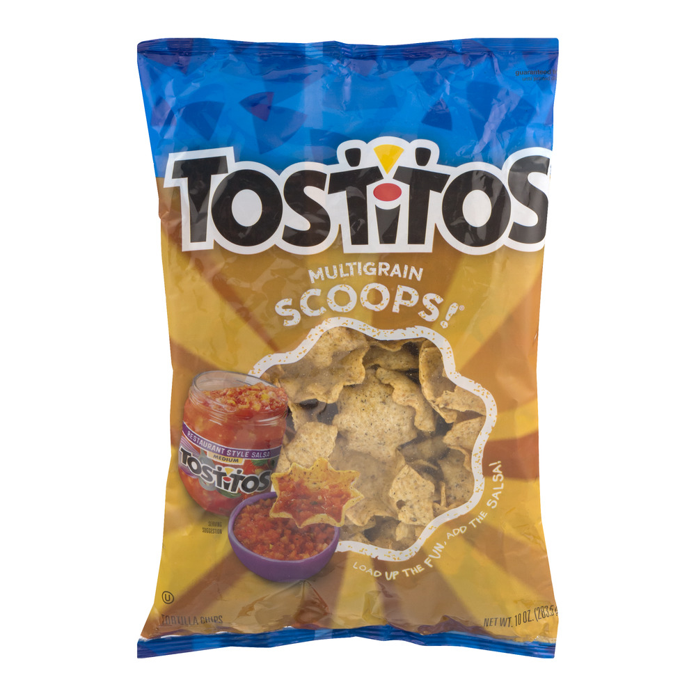 Tostitos Scoops Multigrain Tortilla Chips 10 Ounce Plastic Bag