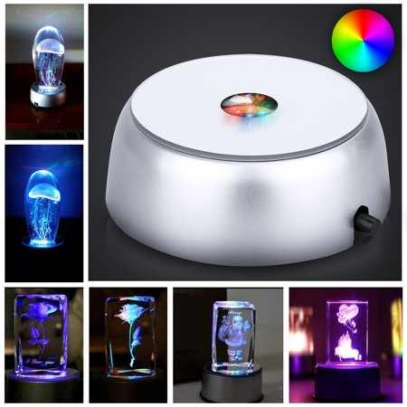 Arm Display Light (TSV 4 LED Round Unique Colorful Light Base Display Stand for Crystals/Glass)