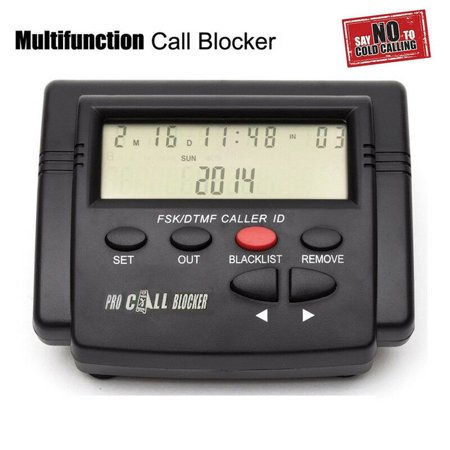1,500 Large Capacity Incoming Call Blocker with LCD Display - Block Calls without Caller (Best Call Blocker For Home Phone)