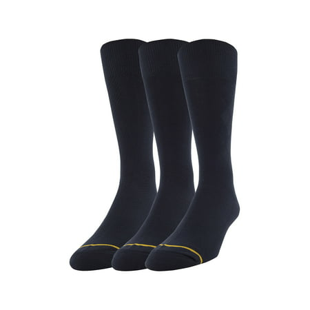 (GT by Gold Toe Men's Rayon Texture Dress Socks, 3-Pack)