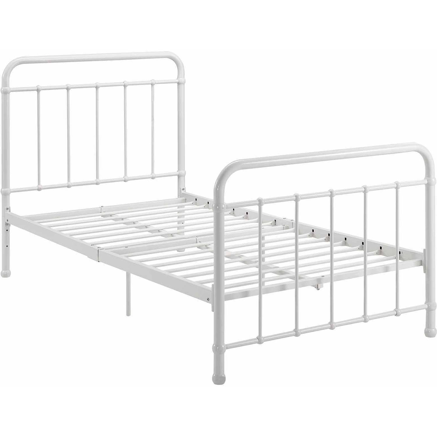 DHP Brooklyn Iron Bed White Multiple Sizes