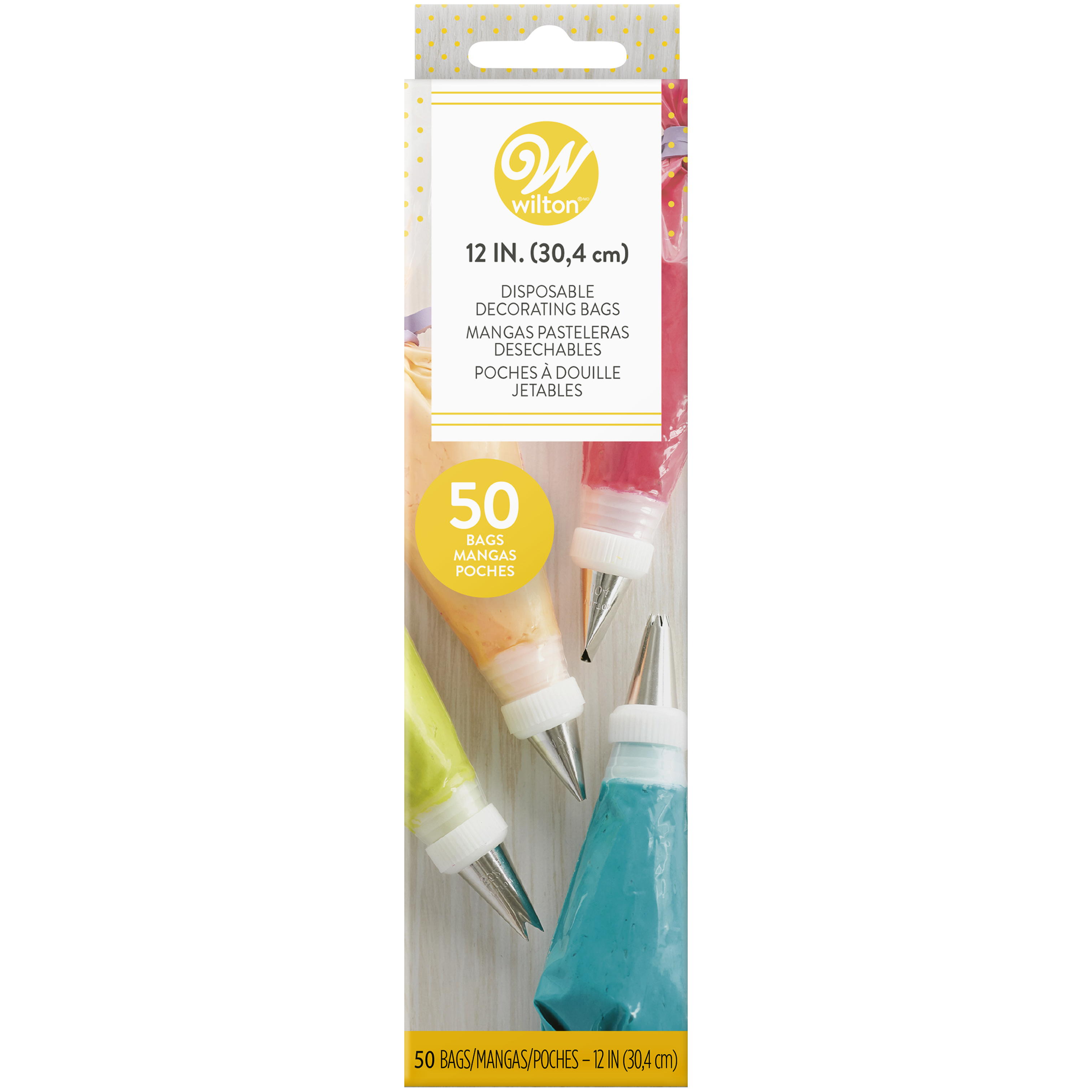 Wilton 12 Inch Disposable Cake Decorating Bags 50 Count Pastry