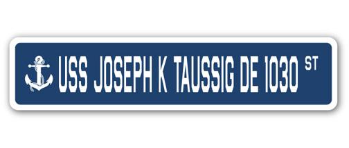 USS Joseph K Taussig DE 1030 Personalized Canvas Ship Photo Print Navy Veteran