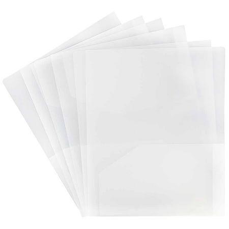 Clear Plastic Folders (JAM Paper Heavy Duty Plastic Two Pocket Presentation Folders, Clear,)