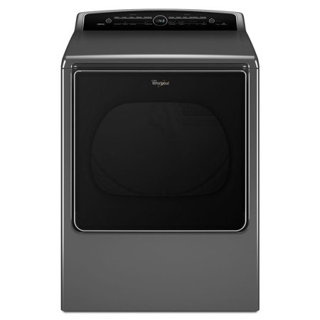 WED8500DC 8.8 cu. ft. High-Efficiency Electric Dryer with Advanced Moisture Sensing  Quad Baffles  and EcoBoost Option  in Chrome Shadow