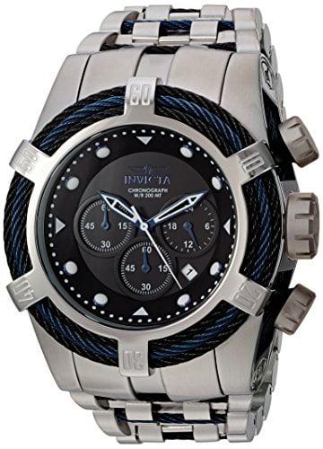 Men's 'Bolt' Quartz Stainless Steel Casual Watch, Color:Two Tone (Model: 23048)